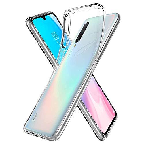 NewTop Custodia Cover Compatibile per Xiaomi Mi A1/A2/A2 Lite/A3, Morbido TPU Clear Protettiva Gel Silicone Trasparente Slim Sottile Flessibile Back Case Posteriore (per Mi A3)