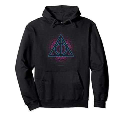 Harry Potter Neon Deathly Hallows Sweat à Capuche