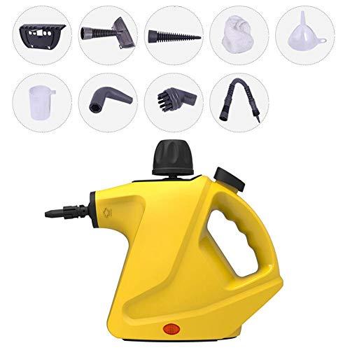 Verloco Stoomreiniger, 400 ml, voor de hand, reiniging van afzuigkap, badkamer, met diverse accessoires, 105 °C, snelle en efficiënte sterilisatie