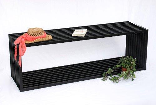 DanDiBo Bank D-Stil 150 cm Modern Gartenbank 10103 Sitzbank aus Metall Eisen Blumenbank - 6