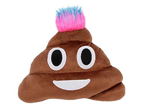 Emoticon Emoji Cushion Pillow XXL 13' Poo Poop Punk Smiles