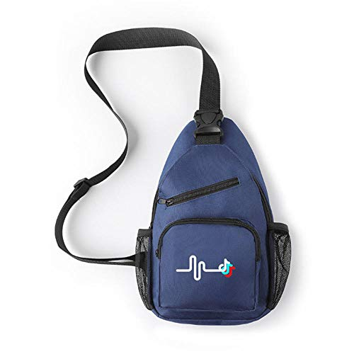 TIK Tok Printed Men's and Women's Messenger Bag Cool and Simple one-Shoulder Chest Bag Backpack-Navy_Blue_19.5cm*8cm*33cm