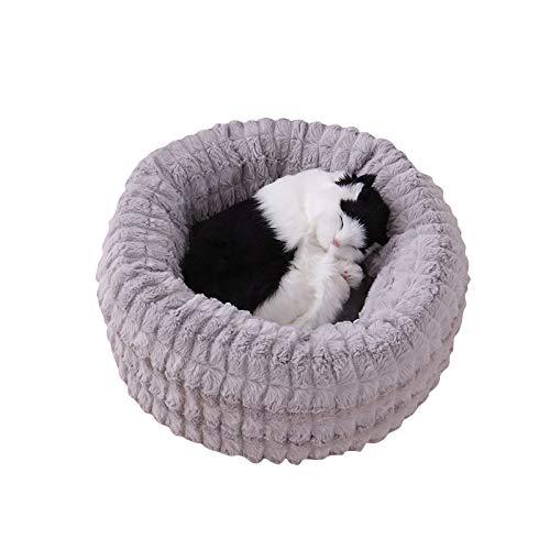 Cesta de Mascotas casa de Perro Cama de Gato Cama de Perro - Hecho de Tela de Felpa Lavable y Resistente a los arañazos casa para Perros y Gatos (M, Style 1)