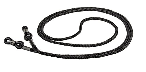 Brillenkordel - Brillenband mit und ohne Stopper - 70cm - in verschiedenen Farben im 3er- oder 6er-Pack (3er-Pack Schwarz)
