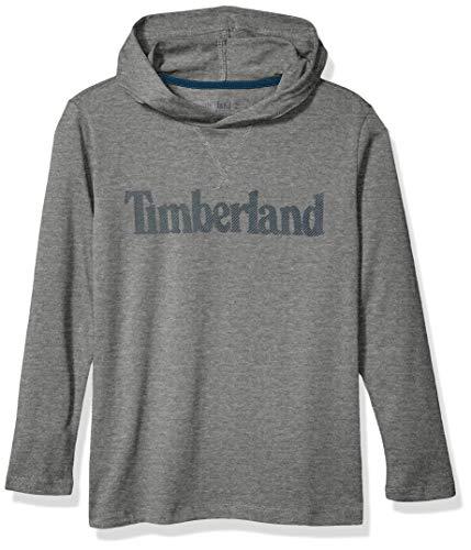 Timberland Jungen Jersey Knit Hooded Sweatshirts Hemd, Mittelgrau meliert, Mittel