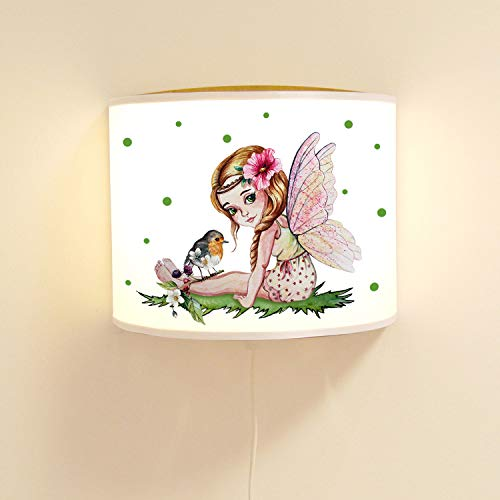 ilka parey wandtattoo-welt ls101 Lampe Murale pour Enfant Motif fée et Oiseau