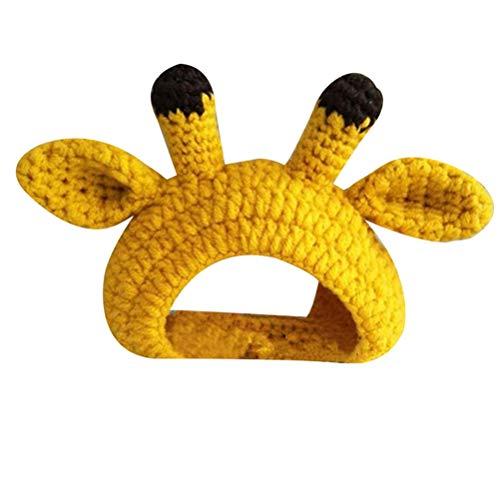 HDDFG Sombreros para Mascotas Tejidos a Mano con Forma de Dibujos Animados Gorro de Perro Gato cálido Accesorios de Fiesta de Festival Disfraz de Festival Divertido Sombrero