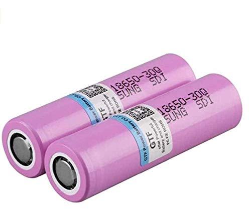 100% 3000mAh 3.7V para Samsung INR 18650 Batería de Litio Recargable de Samsung INR 18650 ANR 30Q 20A para Flashligh de Cigarrillo electrónico-10pcs