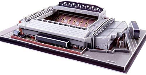hsj Estadio 3D Puzzle, Liverpool Anfield Estadio Modelo de Recuerdo DIY Puzzle 3D Puzzle DIY Juguete Educativo Exquisita mano de obra