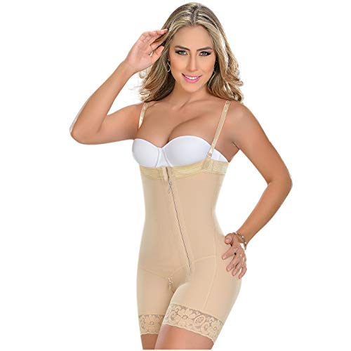 M&D 0766 Full Body Shaper Mid Thigh Bodysuit | Fajas Levanta Cola Colombianas L