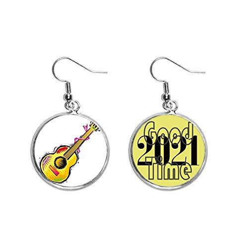 Instrumento Guitarra Mexicon Elemento Ilustración Pendientes Pendientes Pendientes Pendientes Pendientes Joyería 2021 Buena Suerte