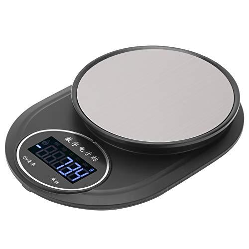 Básculas Electrónicas LCD, Balanza Digital Inteligente Báscula Electrónica Pantalla LCD De Alta Definición Uso De Una Tecla Parte Inferior Antideslizante Para Múltiples Escenas De Pesaje
