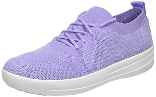 Fitflop Damen Uberknit Lace Up Sneaker, Violett (Frosted Lavender Mix 669), 39 EU