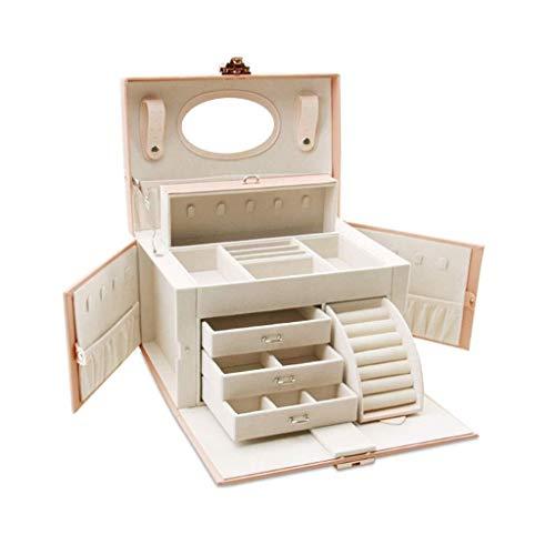 Almacenamiento de cosméticos de almacenamiento Nueva caja de joyería / maleta de almacenamiento y piel sintética bloqueable y forro suave Interno resistente a los arañazos con endoscopio / 26 * (largo