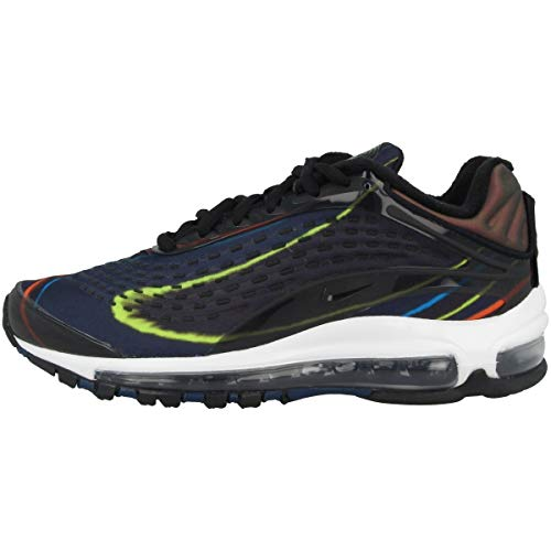 Nike Air Max Deluxe, Scarpe da Ginnastica Basse Uomo, Multicolore (Black/Black/Midnight Navy/Reflect Silver 001), 39 EU
