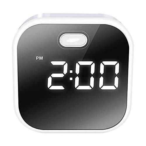 ZHANG Alarm Klok, Digitale Alarm Klok Met Grote Led Display, Snooze Time, Temperatuur, Instelbare Helderheid, Usb En Batterij Power voor Volwassenen Jonge Mensen Ouderen