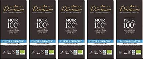 ダーデン 有機チョコレート ダーク100% ×5個 ★<5月〜10月> クール便 ★ 砂糖不使用・酸味が少なく、苦みまろやか
