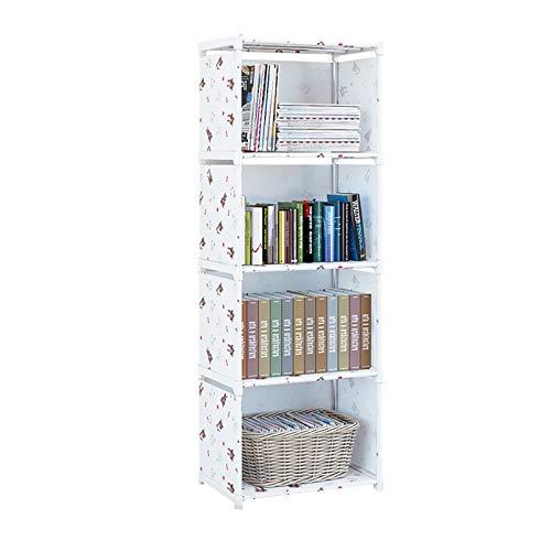 XXLlqRacks Blanco 4 Cubos Librería y Armario DIY, Estantería Modular Multiusos, Armario Abierto para Libros, Juguetes, Ropa, Herramientas