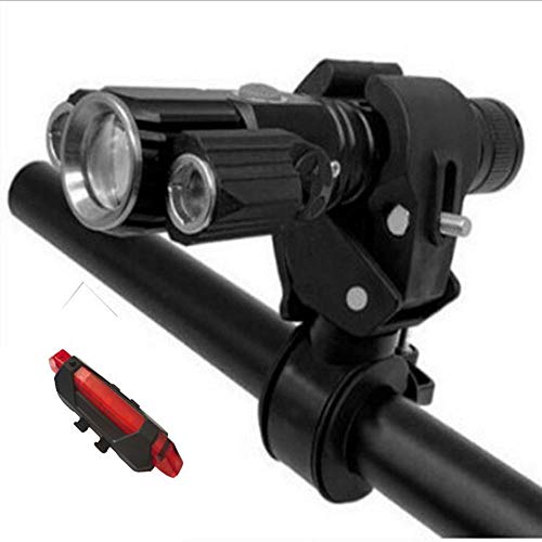 Luz de bicicleta portátil, aleación de aluminio Super brillante LED impermeable IPX5 nivel de carga USB, fácil de instalar luz de bicicleta de cuatro modelos, adecuado para todas las bicicletas
