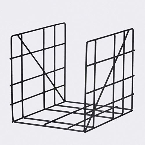 ZHANGYY Mini estantería con Marco de Metal, estantería, Mesa de Oficina, archivador, Revista, Dormitorio, 31 x 31 x 25 cm, 2 Colores Opcionales (Color: Negro, tamaño: 2 Piezas)