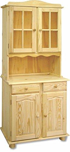 Alacena 2 Puertas Sin barnizar, 197x88x42. Realizada en madera Maciza de pino...