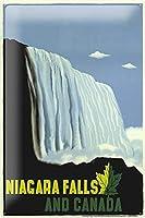 ワールドツアーナイアガラフォールズのテーマメタルティンサイン8x12インチレトロな壁の装飾サインバーダイニングルームリビングルームキッチンガレージ