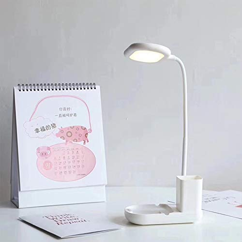 GZZJ Led-lamp, dimming oogbescherming, tafellamp, led-touch-lamp, drie blokken, smart dimming, energiebesparend, studentenhuis, bureau, USB-oplaadbaar nachtlampje
