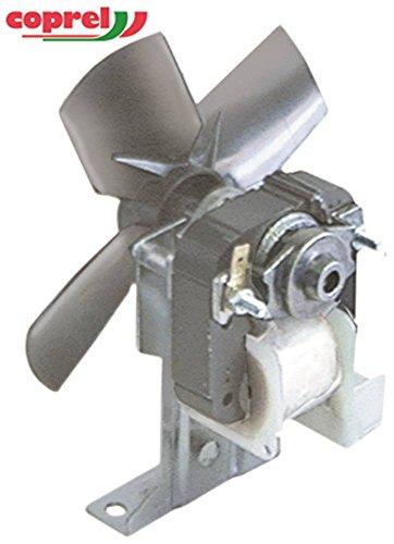 Ventilator 230V 18W Lüfterrad ø 130mm 50Hz 20mm Anschluss rechts saugend Drehrichtung saugend Fußhöhe 31mm