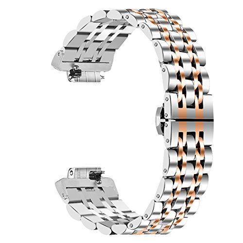 Miya System Ltd Cinturino per Inspire 2, Cinturini per bracciali Regolabili di Ricambio in Metallo Inossidabile con Strumento di smontaggio per Fitbit Inspire 2 (M7)