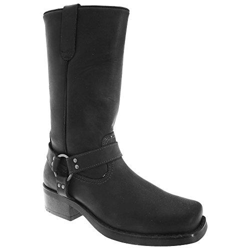 Woodland Gringos Herren Harley Western Harness Leder Stiefel (41 EU) (Schwarz)