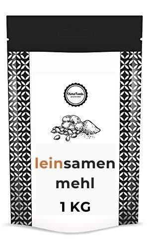 LEINSAMENMEHL 1KG, Leinsamen Gemahlen Braun, Leinsamen Pulver, Leinsamenmehl Entölt, Leinmehl Low Carb,