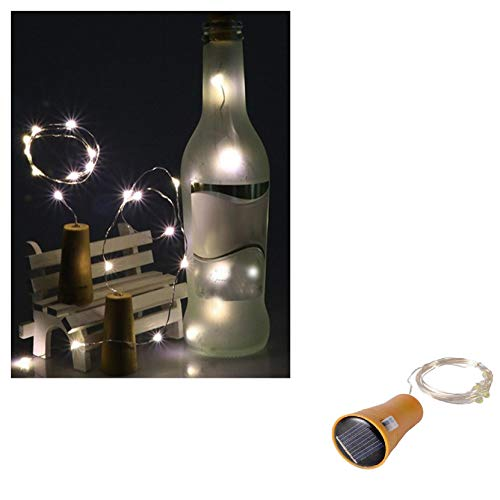 Bottle Lights with Cork, Battery Rechargeable Cork Lights for Wine Bottles, Copper Wire Fairy Lights for Parties, Birthday, Wedding, Christmas DIY Table Indoor/Outdoor Decoration (White, 1.5M 15LED)