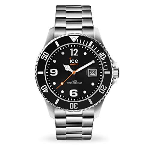 Ice-Watch - ICE steel Black silver - Orologio nero da Uomocon Cinturino in metallo - 016032 (Large)