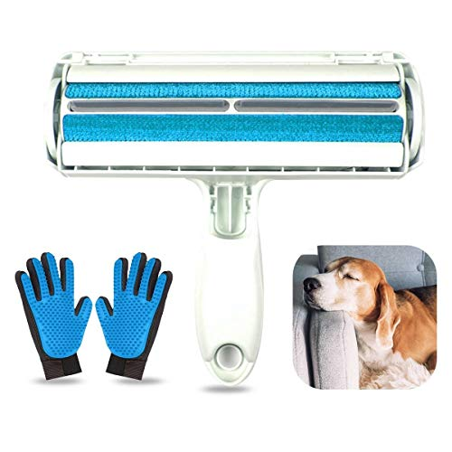 O³ Quitapelos y Rodillos para Mascotas con 2 Guantes para Quitar Pelo Mascotas – Cepillo Quita Pelos Gato y Quita Pelos Perro - Removedor de Pelaje Quitapelos Mascotas