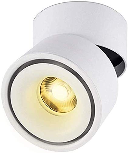 Inwendige 7W 10W 12W 15W LED schijnwerper 360 graden; instelbaar plafond downlight opbouw COB verlichting LED10X10CM kledingwinkel wandlamp wit 3000k-6000 k