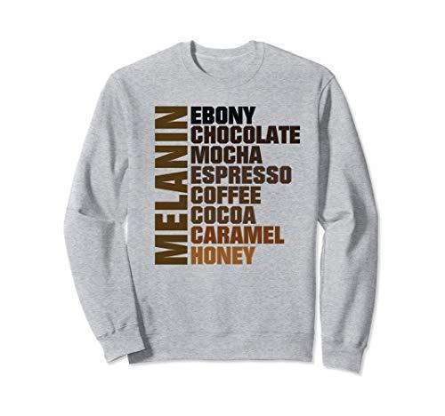 Melanin Shades of Brown Ebony Caramel Mocha Sweatshirt