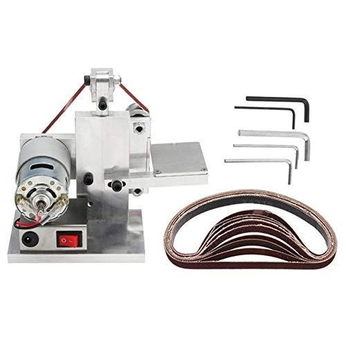 ViewSys Abrasive, 110-240V DIY Electric Belt Sander Polishing Grinding Mount Machine Sharpener Wood Metal Angle Grinder Polishing Brush,
