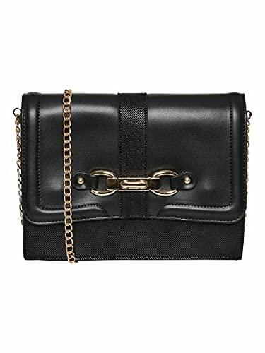 VERO MODA Damen VMMERLE Cross Over Bag Umhängetasche, Black, ONE Size