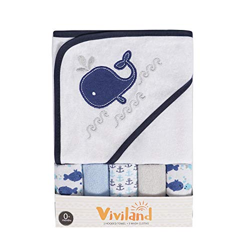 Serviette de bain à capuche et débarbouillettes pour bébé, excellent cadeau pour les nourrissons et les nouveau-nés, toucher doux et forte absorption, pack de 6