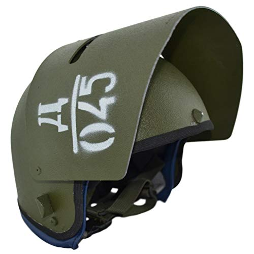 Gearcraft Replica Russian Helmet Maska-1 with Steel Vizor Olive for Special Units Russian Army (Tachanka Edition)