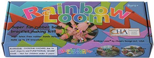 Rainbow Loom Crafting Kit includes Loom, Metal Hook, Mini Rainbow Loom, 600 Rubber Bands + 24 Clips