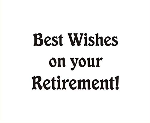 Best Wishes Retirement Cling Rubber Stamp by DRS Designs - Made in USA