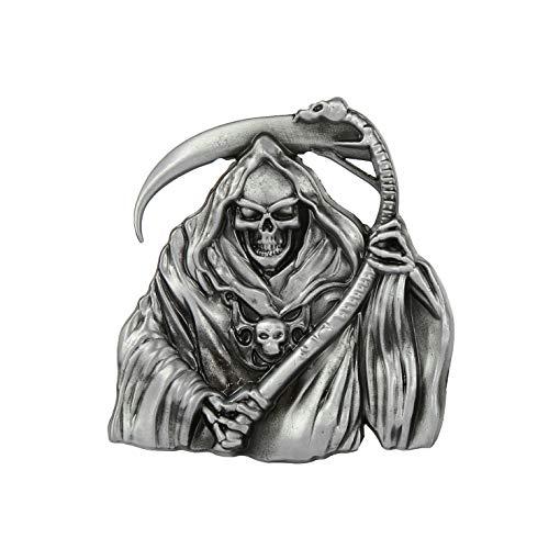 KDG Western cowboy belt buckle for belt accessories Custom buckle (Grim Reaper)