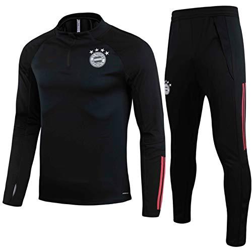 HPYR Bǎyěrn Kids Fussball Trikots Set - Fußball Training Trainingsanzug Langarm Rundhalsausschnitt Surverement Sportswear L