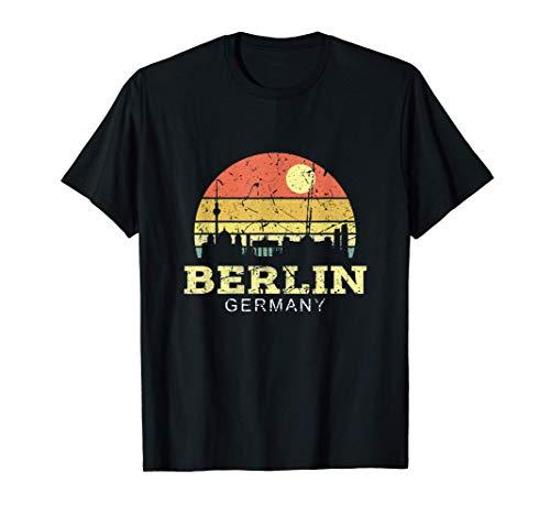 Retro Vintage Skyline Berlin Shirt Berlin City Geschenk T-Shirt