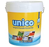 ICOBIT Unico - Super resina liquida impermeabilizzante, Bianco, 1 Kg