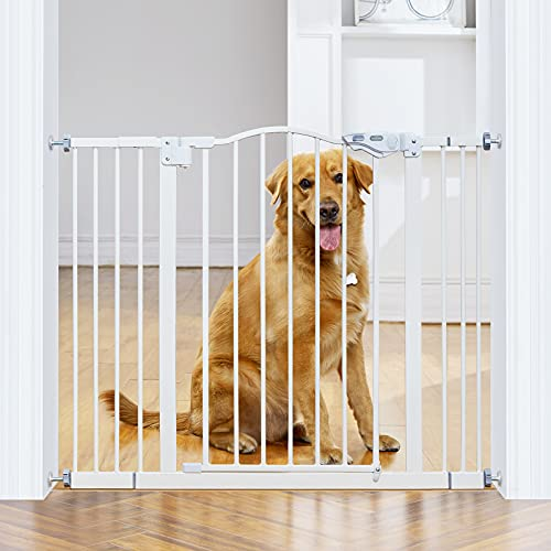InnoTruth Wide Baby Gate for Dogs, Auto Close Pet...