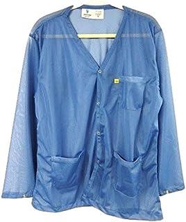 StaticTek Full Sleeve V Neck ESD Jacket   Anti-Static Snap Cuff Lab Coat   Certified Level 3 Static Shielding   Lt Wt   Hi...