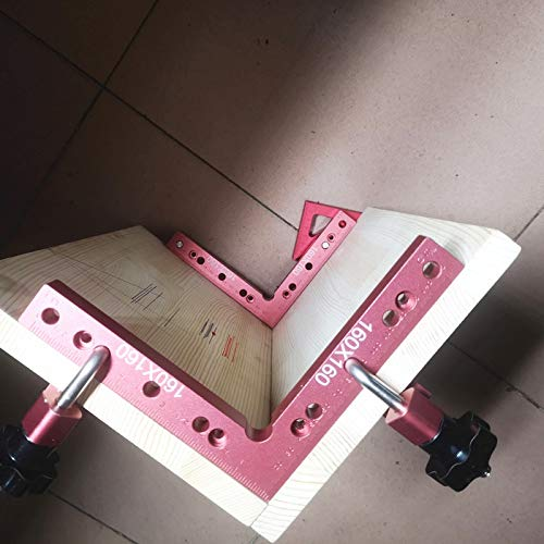 NO LOGO HWW-MGGJJDJ, Aluminium-Platz rechtwinklig 90 Grad L-förmige Hilfs Fixture Positionierung Paneelbefestigung Clip Holzverarbeitung Tischler-Hilfsmittel (Color : 160mm Angle Ruler)