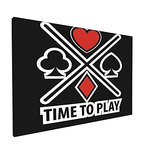 Sin Marco Mural Impresiones en Lienzo,Logotipo de Casino Poker B797,Oficina en Casa Decoración Mural Pintura al óleo Arte de Moda,18' x 12'